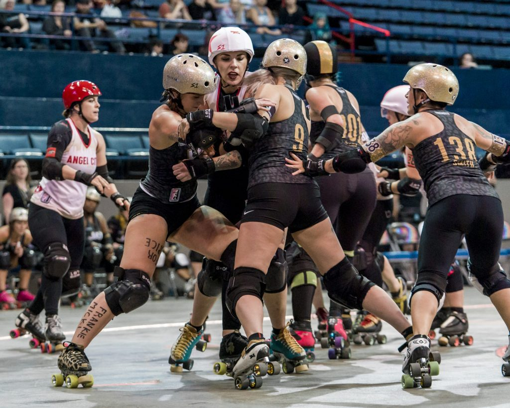 2018 WFTDA Championships New Orleans Game2 Jacksonville Angel City ©Keith Bielat